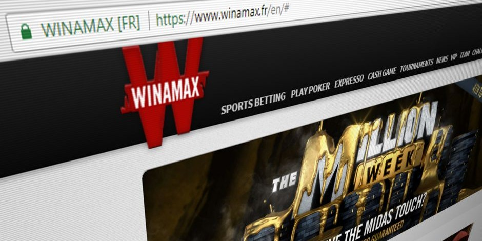 Winamax mobile sport application.